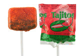 Delicious hard caramel lollipop that taste like watermelon and has a rich and spicy touch of chili powder on it