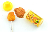 Lollipops come in the shape and flavor of mango with powdered chili. Delight sweetness and little spice at the same time.