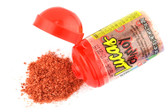 Sweet and Sour Chamoy flavored Powder by Lucas. Savory, sweet and sour is what you'll get from the classic Mexican fruit and spice blend, chamoy.  The chamoy powder can be eaten by itself or sprinkled over fruits. Its baby size makes it compact, allowing you to take it anywhere you go. Also, it comes with a twist on cap, so you can eat some now and save the rest for later.