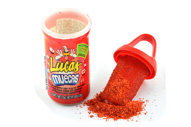 Cherry flavored lollipop deep in sweet and sour powder. Its baby size makes it compact, allowing you to take it anywhere you go. Also, it comes with a twist on cap, so you can eat some now and save the rest for later.