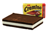 Cremino is a hazelnut and cocoa praline. The hazelnut and cocoa combine to make a fantastic chocolate that not only looks appealing, but tastes great as well.