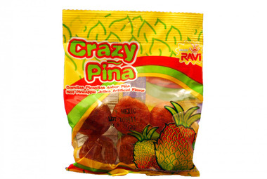 Hot pineapple jellies with chilli. These are addictive and completely amazing! If you like spicy food or candy, pick some up. You won't be disappointed.