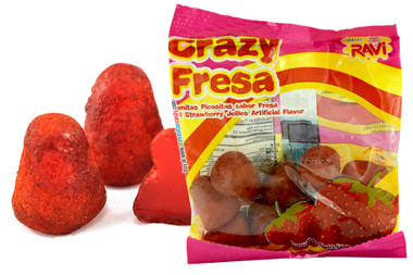 Hot strawberry  jellies with chilli. These are addictive and completely amazing! If you like spicy food or candy, pick some up. You won't be disappointed.