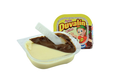 You will love the sweet hazelnut and vanilla flavors combined in a delightful blend that will make your mouth water! Duvalin is a delicious soft and creamy milk candy that comes in a small container with a small plastic spoon.