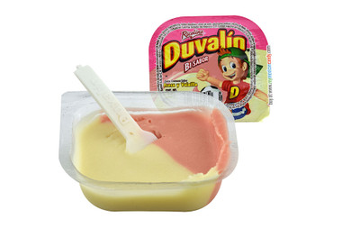You will love the sweet strawberry and vanilla flavors combined in a delightful blend that will make your mouth water! Duvalin is a delicious soft and creamy milk candy that comes in a small container with a small plastic spoon.