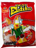 Beny Elotito is a Hard Candy Lollipop that is covered with chili and tastes like pinneapple. This Mexican Caramel Candy is shaped like corn and has chili flavoring.