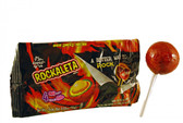 Rockaleta Lollipops feature alternate layers of chili and an artificially flavored mango gum center. What's interesting about the Rockaleta lollipop is that is has 4 different colorful chili layers that keep you wondering what the next color is going to be. Every layer taste different, so it's not one ordinary flavor lollipop.