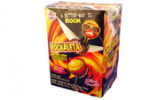 Rockaleta Lollipops feature alternate layers of chili and an artificially flavored mango gum center.