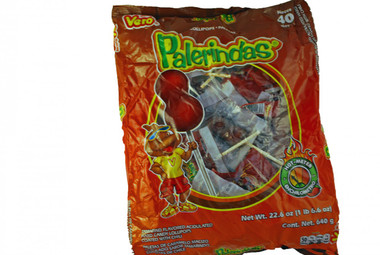 Palerindas are a Mexican hard candy lollipop tamarind flavored with a chili coating.