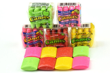 Canel's are assorted gums that come in a fun pack with 4 delicious different flavors such as banana, fruit, stawberry and apple.