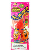 Mega Cachetadas are some giant acidulated soft candy lollipops. With a delicious mixture of sugar and fruit flavors such as guava, tamarind, cucumber, watermelon and mango. Making it a super delicious and sweet delight!