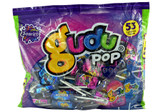 The bag contains a great variety of mix taffy lollipop. With the delicious options of multi flavors or blueberry. The bag has 53 pieces per package.