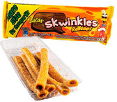 Savory spicy pineapple candy straws mixed with tamarind flavor. This candy strips have a delicious chewy texture. The candy itself has a pinneapple flavor with a tasty tamarind filling.