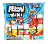 Bag with a mixture of Lorena Mini Pelon's. This mix bag has variaty of watermelon, mango and chamoy flavored candies. The bag contains 18 pieces per package.