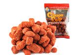 Chucu Pulp Trocitos is a fruit pulp with salt and chili. It is a similar snack to chaca-chaca and has a spicy and salty taste. It is made made with real fruit pulp.