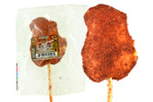 El Jalisciense Real Mango lollipop that is covered with a spicy and pleasant chili powder. This lollipop brings the great fresh and sweet flavor of mango with a twist of spicyness that will make explotions of flavors on your mouth.