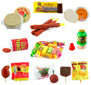 This box is full of the most delightful and popular Mexican Candies. It contains the sweet traditional candies such as Mazapan, Aldama Oblea and Dulces Acidulados but if you prefered spicy then you will find the Zumba Hot powder, Pulparindo, Rebanadita lollipop with chili and much more.