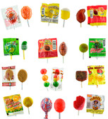 Mexican Candy Lollipop Mix Bag  comes with 60 different pieces of Mexican lollipops such as Pollito Asado, Tarrito, Vero Mango, Vero Elotes and much more, making it a combination of sweet, sour and spicy candies.
