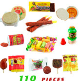 Box with some of the most popular candies. This box contains assorted Mexican candies like Mazapans, Wafers, Pulparindos, Spicy lollipops and many more making it a great mixture of sweet and spicy candies.