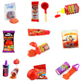 """This mix of candies comes with a great variety of chamoy flavored candy such as """"Miguelito"""", """"Lucas Baby"""", """"Rellerindo"""", """"Lucas Muecas"""", """"Miguelito powder"""" and many more."""