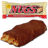 De la Rosa Nugs is a delicious bar candy with peanut chunks and caramel in the inside and a thin cover of sweet chocolate. This candy has the perfect mixture of sweet and cruchy.