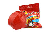 Locochas Chamoy is a chamoy flavored hard candy with a delicious chili center. This ball-shaped candy has the perfect combination of sweet and spicy. Chamoy has a variety of savory sauces and condiments in Mexican cuisine made from pickled fruit.