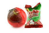 Hard Watermelon flavored candy with a delicious chili center. The perfect comination of spicy, fruits and sugar caramel. All of this inside a ball-shaped form candy that will bring you satisfaction!
