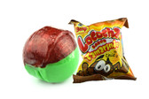 Beny Locochas Tamarindo is one of the tastiest fruited candies of the market! It comes in a rounded form that combines the tamarind flavor and the chili all together. This is a hard candy that tastes completely sweet and spicy at the same time!