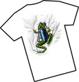 Amphibious Outfitters T-Shirt - Scuba Frog - White - Diving