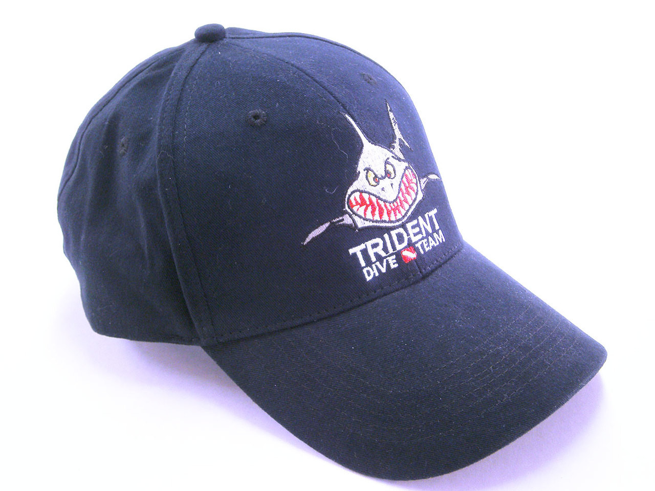 Trident Angry Shark Scuba Diving Ball Cap Dive Hat Dark Blue   Faded ... 7ffbba093eb