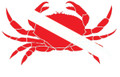 Scuba Diving Bumper Sticker Dive Flag Decal - Crab