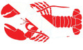 Scuba Diving Bumper Sticker Dive Flag Decal - N.E. Lobster