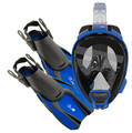 Ocean Reef Aria QR+, Duo Travel Ready Mask/Fins Set Diving, Snorkeling Blue