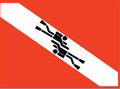 Two (2) Divers Twins Swimming Bumper Sticker