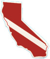 California State Dive Flag Bumper Sticker