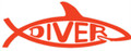 "Diver Shark 5"" Decal Bumper Sticke"