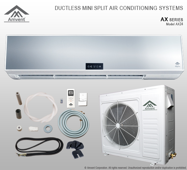 AX Series Ductless Mini Split Air Conditioning Systems