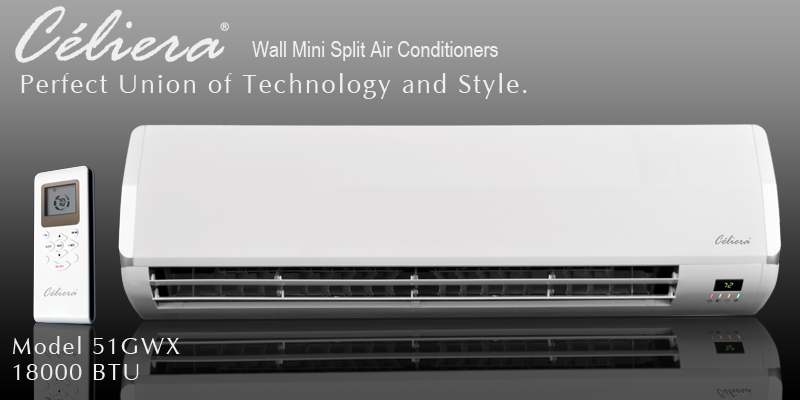 Celiera 51GWX Ductless Mini Split AC