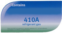 Contains R410A Refridgerant