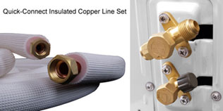 Quick Connect Insulated Copper Line Set