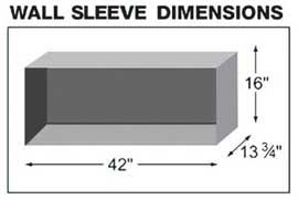 Ramsond KCD-45/Ba Wall Sleeve Dimensions