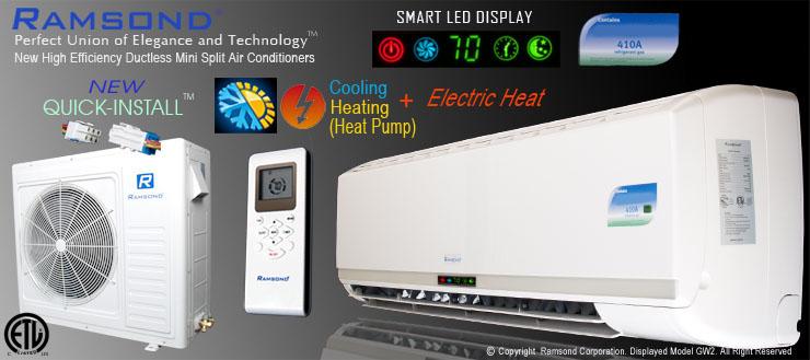 Ramsond Ductless Mini Split AC & Heat Pump