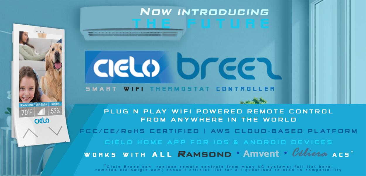 Cielo Breez Smart WiFi Thermostat