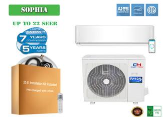 Cooper&Hunter Sophia  Series 12000 BTU 115V Wall Mount  Mini Split Air Conditioner Heat Pump 21.5 SEER