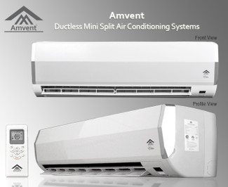 AMVENT A37GW2C-ELT 12000 BTU DUCTLESS MINI SPLIT AIR CONDITIONER