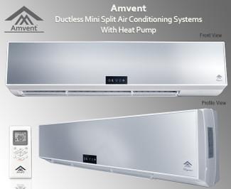 Amvent AX24 24000 BTU 16.0 SEER Ductless Mini Split AC + Heat Pump