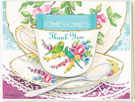 Thankful Birds Tea Card - KimberlyShawGraphics.com