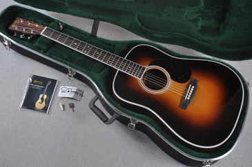 "Martin Custom Shop HD-35 Adirondack Sunburst 1 3/4"" Nut Acoustic Guitar #1924271 - Case"