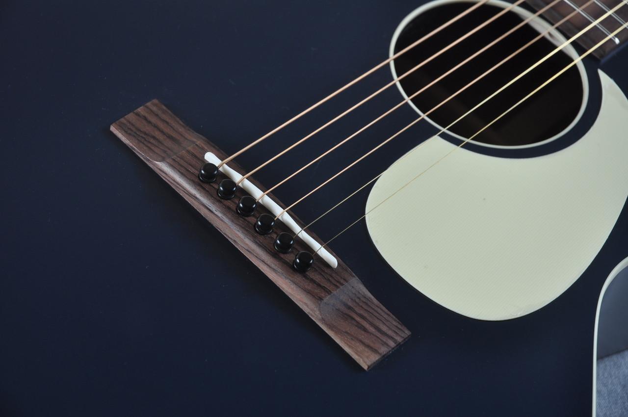 2016 Martin Custom Shop 00 17 Dark Navy Blue Acoustic Electric 2034157