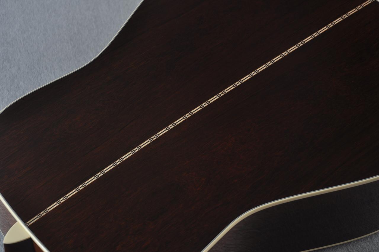 2017 Martin Limited Edition John Prine D-28 #61 Engelmann Madagascar #2084750 - Back Purfling